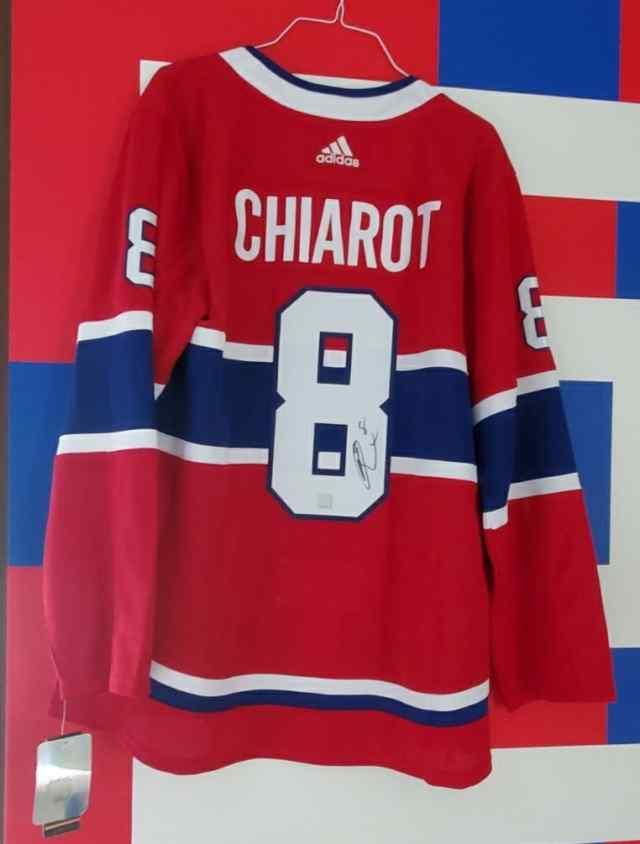 #8 Ben Chiarot Signed Jersey  image 0